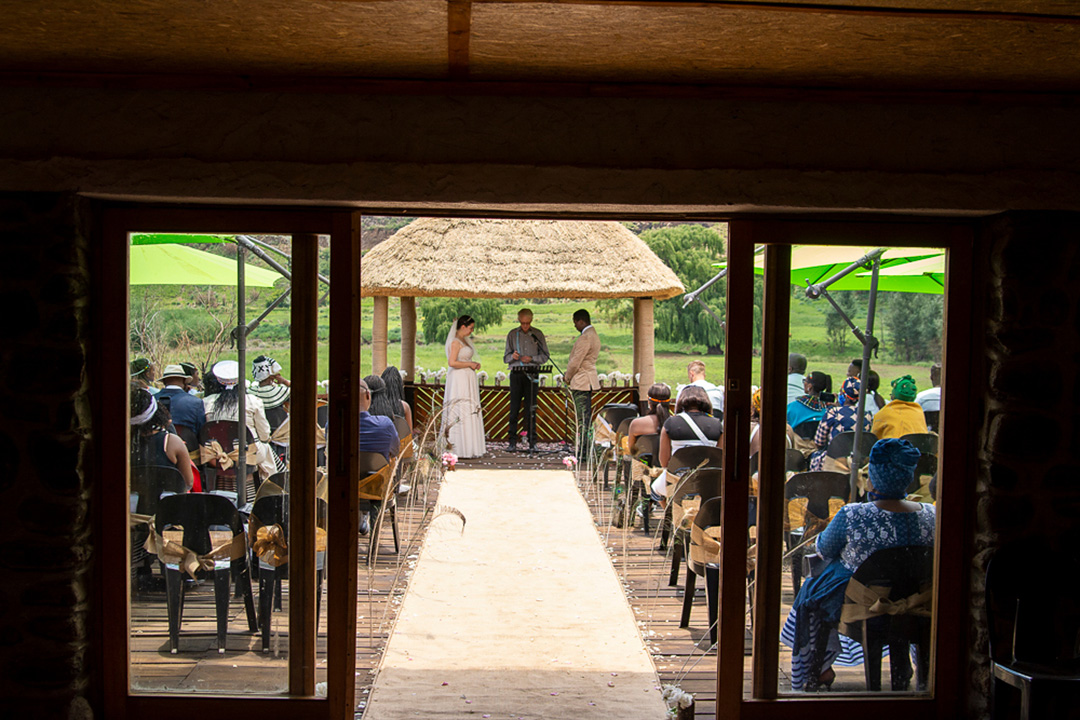 Wedding December 2020 church ceremony Alpine Swift Trails