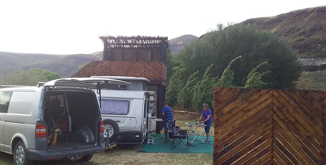 Alpine Swift Trails campsite couple